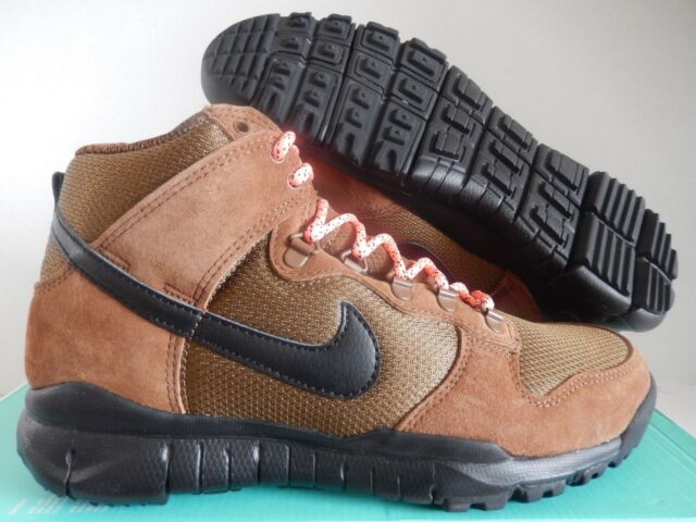 reputable site 04ff9 84a41 Nike SB Dunk High Boot Size 10 Military Brown Black 536182-203 Mens Shoes