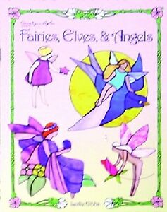 Stained Glass Pattern Book Fairies Elves Angels Ebay
