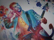 Prince 20x14 oil painting NOT print Purple rain, NPG, Paisley park,sign of times