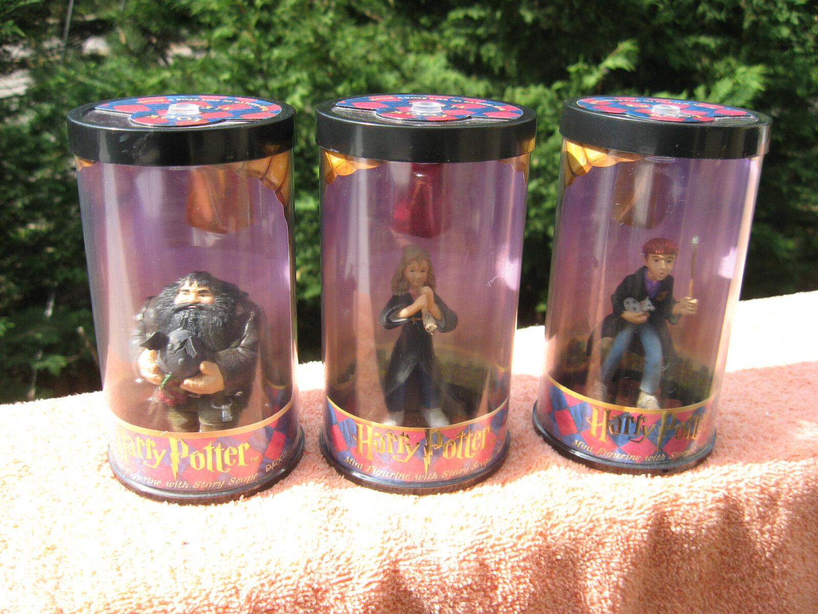 3 Harry Potter Enesco Hero SeriesRubeus HagridRon WeasleyHermoine Granger