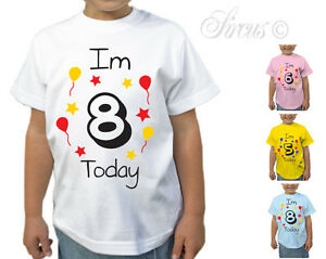 Image Is Loading CHILDRENS PERSONALISED BIRTHDAY DESIGN T SHIRT BOYS GIRLS