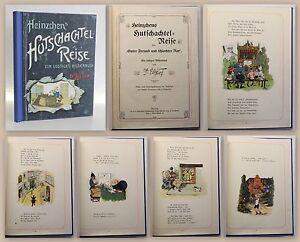 Lui-Ver-Heinzchens-Hutschachtel-Reise-lustiges-Bilderbuch-um-1900-Erstausgabe