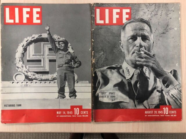 Life Magazines from 1945 Back Issue (two copies)