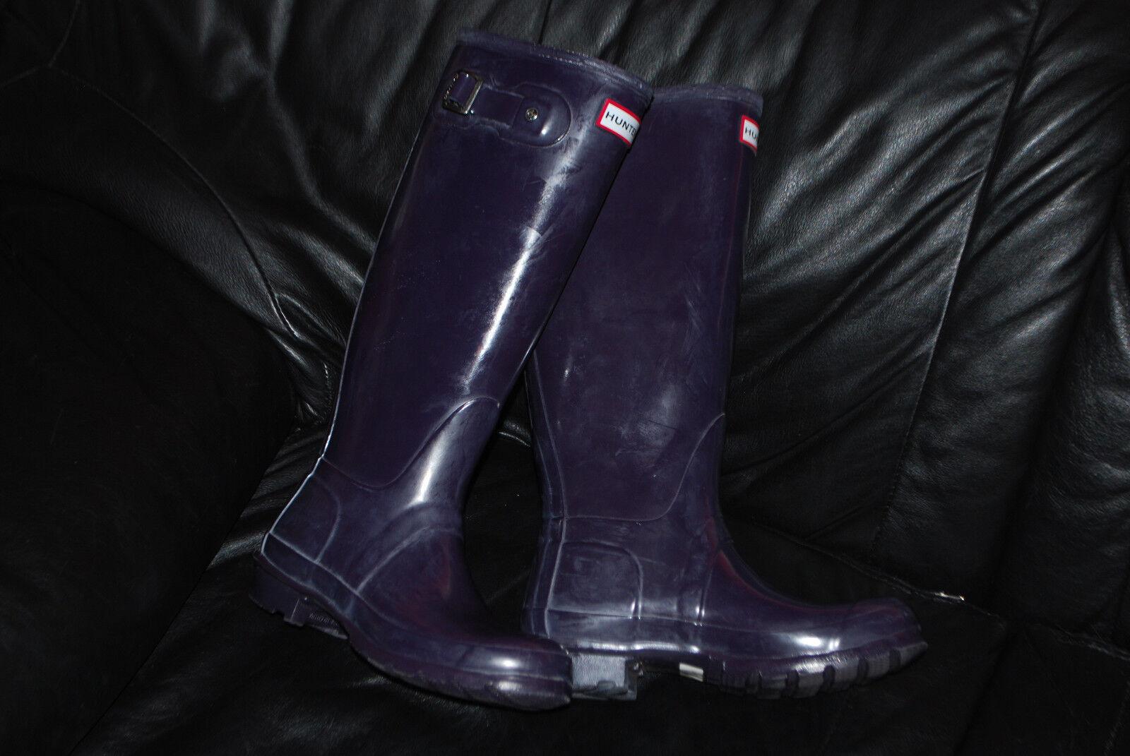 Para mujer púrpura oscuro Ciruela de Hunter Alto Brillante botas de lluvia (6 de Ciruela EE. UU.) 62efa4