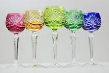 5 Nachtmann Römer Kristallglas bunt Weingläser Schliff 19cm Midcentury Vintage