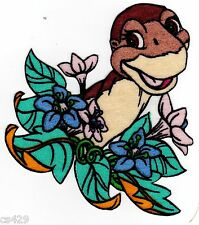 """4"""" LAND BEFORE TIME DINOSAUR LITTLEFOOT  CHARACTER FABRIC APPLIQUE IRON ON"""