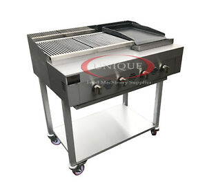 Image Is Loading 4 Burner Gas Charcoal Bbq Grill Char