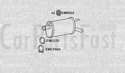 Exhaust Rear Box Citroen XM 3.0 Petrol Hatchback 07//1990 to 07//1993