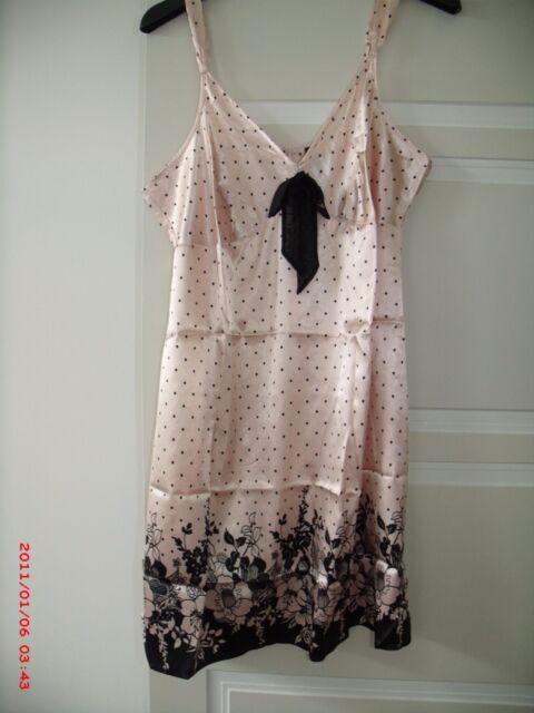 Ladies Pink Polka Dot Pour Moi? Chemise Nightie Sleepwear UK Size 16, Suit 12-14