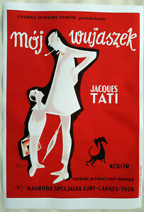 XL-HiQ-Facsimile-of-1958-Mon-Oncle-Movie-Poster-36-x-24-Polish-Pierre-Etaix