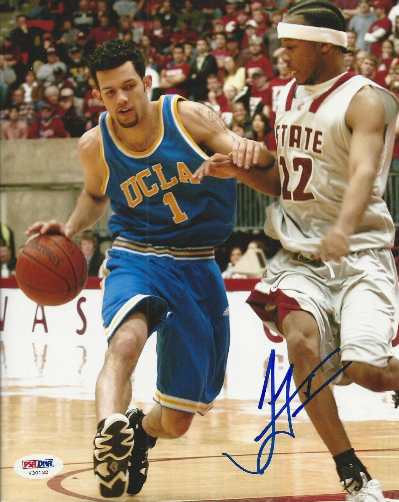 Jordan Farmar UCLA signed 8x10 photo PSA/DNA #V30132