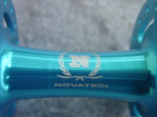 Un Fixie vordernabe 32 Trous Novatec Bleu Hochflansch NEUF 100 mm