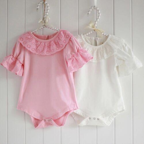 Baby Girls boutique gilet Babygrow Ange Ivoire Rose Vintage Manche Froncée Coton