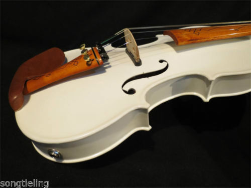 Hecho A Mano Violín eléctrico eléctrico eléctrico de Color blancoo 4 4 +  8172 sonido resonante Acústico Violín, f9c732