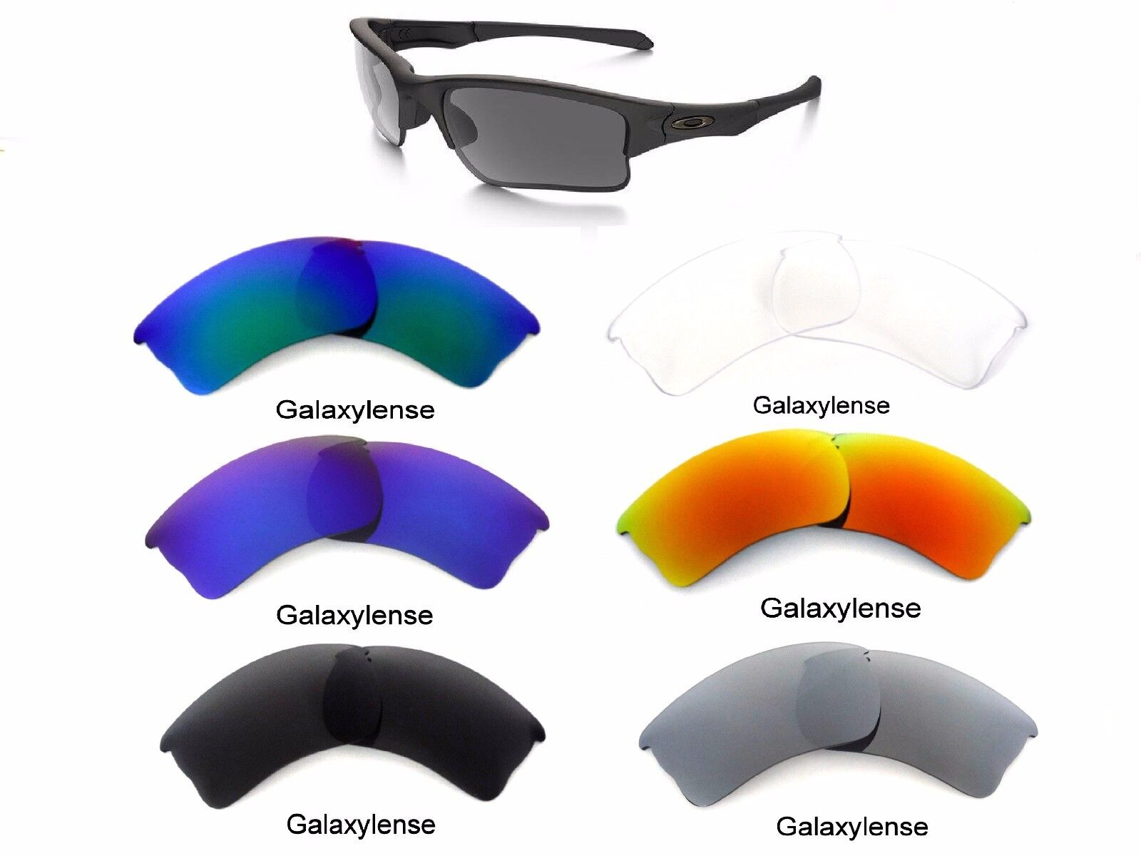 Galaxy Replacement Lenses For Oakley Quarter Jacket Sunglasses Multi Selection