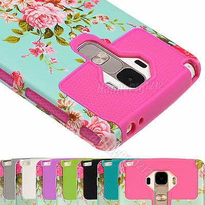 Shockproof Rugged Hybrid Hard Case Stand Cover For LG G Stylo LS770 G4 Stylus