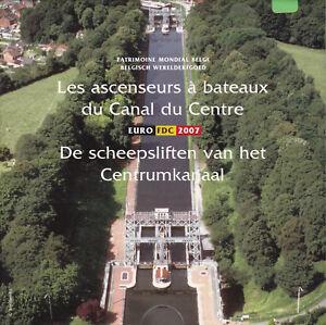Rare-BU-set-euro-belgique-2007-ascenseurs-a-bateaux-medaille-couleur