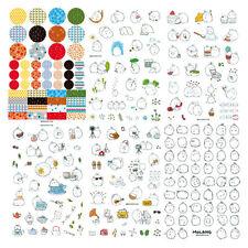 6 pcs /set Korea Molang Stupid Mix Super Cute Pet Decorative Diary Stickers N5T3