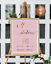 selfie station signs photos reception Pink wedding copper wedding sign