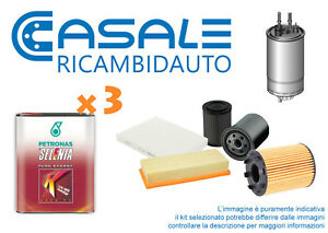 Kit-Tagliando-Fiat-Panda-III-900-Cc-875-3-Filtri-3-L-Olio-SELENIA-K-Pure-Energy