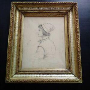 1859-superbe-dessin-portrait-jeune-homme-XIXeme-signe-date-1859-bel-encadrement