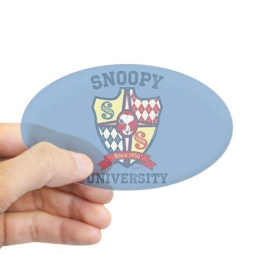 Oval 1795689865 CafePress Snoopy University Sticker