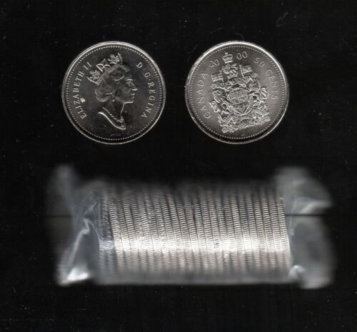 COAT-OF-ARM DESIGN IN MINT COND. CANADA 2000 HALF DOLLAR