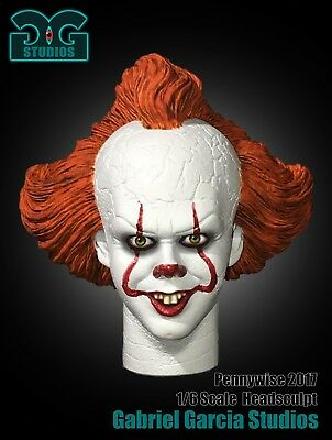 Gabriel Garcia Studios Pennywise It  1//6 scale Resin Head Un-painted