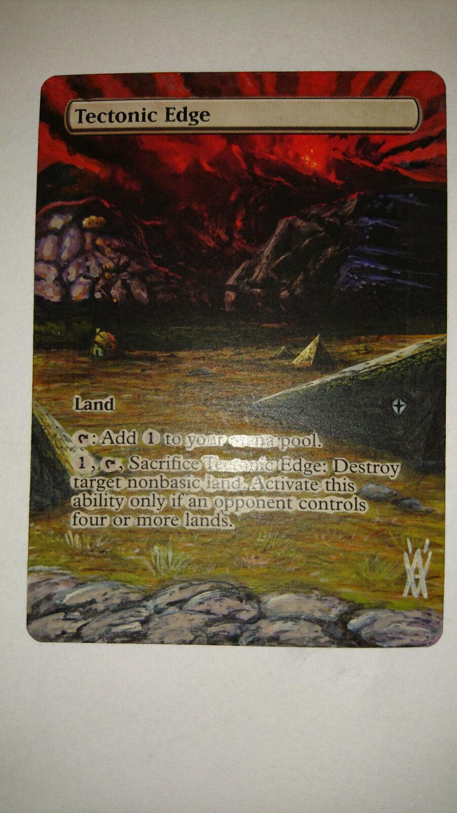 MAGIC TECTONIC EDGE EDGE EDGE FULL ALTERED EXTENDED ART HAND PAINT BY DEMIAN SOLIS 9bb850