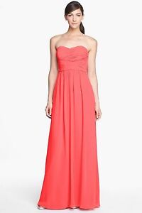 Bridesmaid Prom Gown Nordstrom Donna Morgan Stephanie Ruched Sz 2 ...