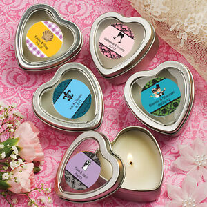 Image Is Loading 30 Personalized Heart Shaped Scented Candles Birthday Baby
