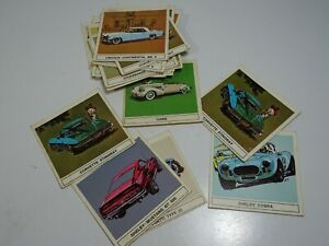 1967-B-A-GALLERY-OF-GREAT-CARS-Incomplete-set-18-of-24-cards-CANADA-Vintage