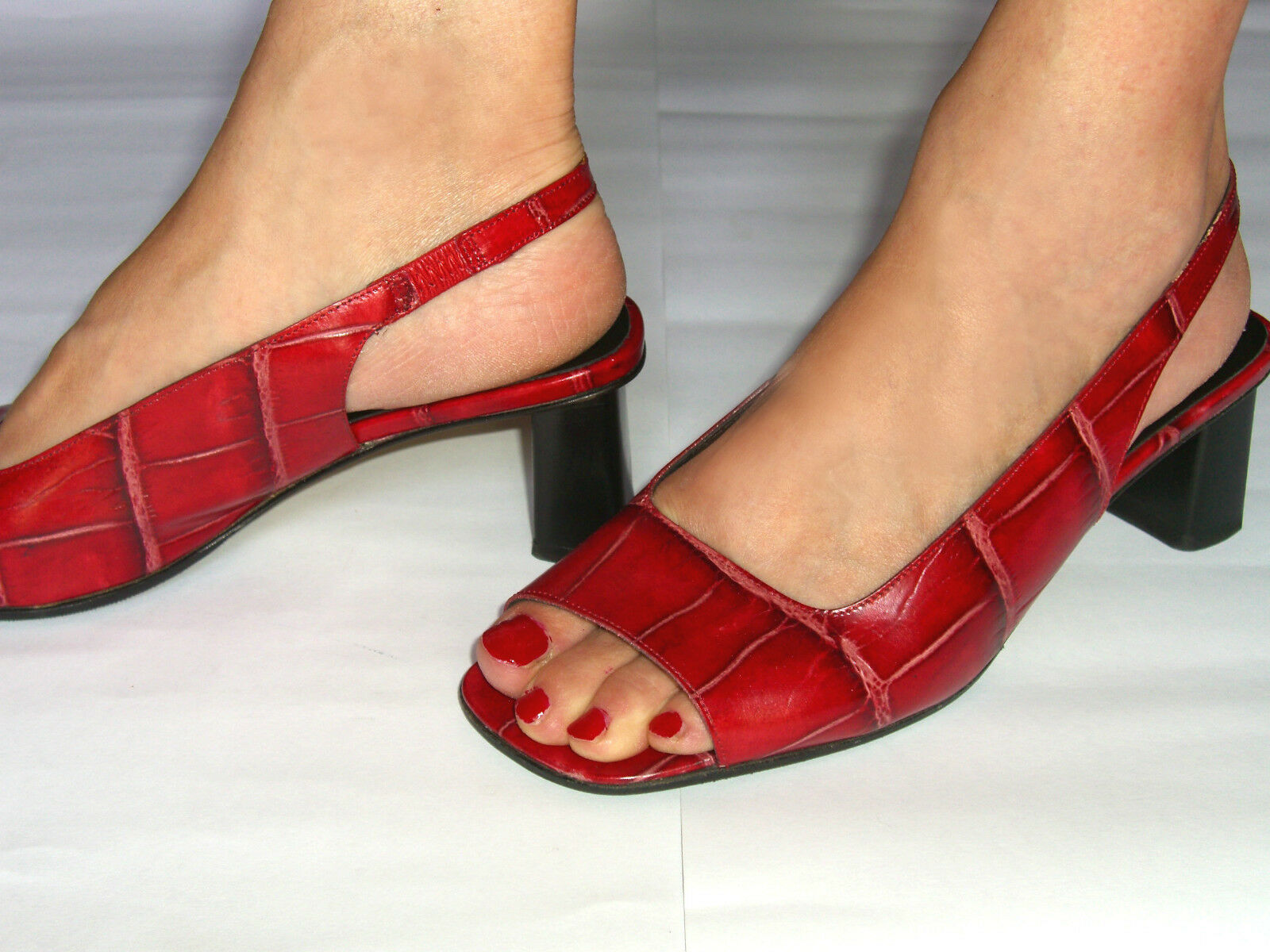 Sandali Femme Vera Pelle Rosso Intenso. Intenso. Rosso LORBAC.37-1/2. Red Leather Woman Sandal. 99a3d7