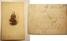 Emilie / Emilia ? Zingler / Jingler / Ziegler ? als kleines Mädchen - 1863 / CDV