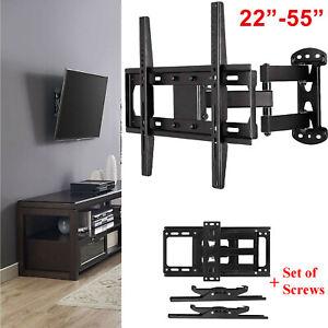 Moveable-Wall-Mount-TV-Bracket-Hanger-Holder-Universal-For-32-39-40-43-46-49-034-CC