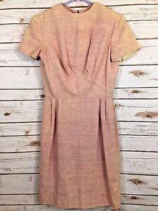 Pink-Dress-Vintage-1960-039-s-Size-Medium-8-10
