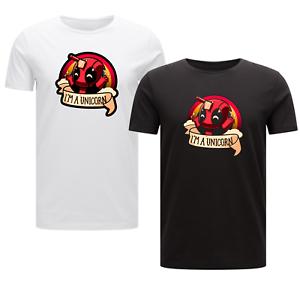 Deadpool Unicorn Parody T-shirt Mens Marvel Unisex Movie Tee Gift Funny Kids