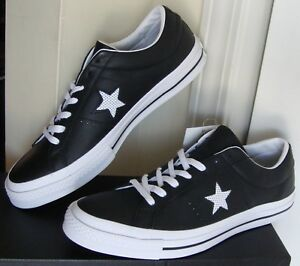 a2965525a997 Men s Converse Chuck Taylor One Star Ox Black White Shoes 158465C