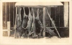 RPPC-034-Day-039-s-Hunting-at-Winter-WI-034-Dead-Deer-Bucks-ca-1910s-Vintage-Postcard