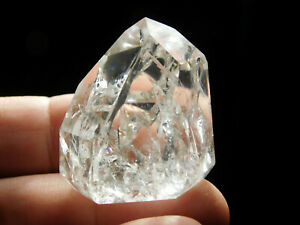A-Smaller-Translucent-Polished-Fire-and-Ice-Quartz-Crystal-From-Brazil-42-5gr