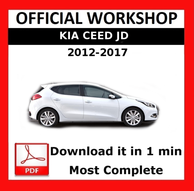 official workshop manual service repair kia ceed jd 2012 2017 ebay rh ebay co uk Kia Ceed Combi Kia Ceed 2018