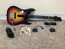 PlayStation 3 Guitar Hero PS3 Wireless Sunburst Controller DONGLES & MIC & GAME!