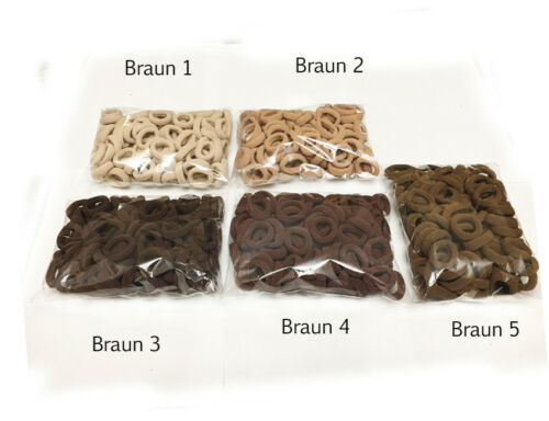 FR1 Haargummi 10-50  Stück  Starke Lycra Frottee  Farbe Top Qualität !