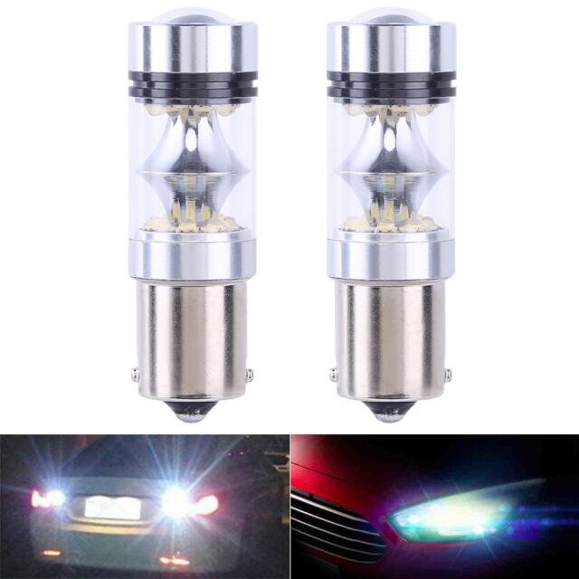 2x CREE XBD 100W 1156 S25 P21W BA15S LED Backup Light Car Reverse Bulb Lamp New