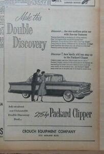 1956 newspaper ad for Packard - Unbeatable 275 h.p. Packard Clipper