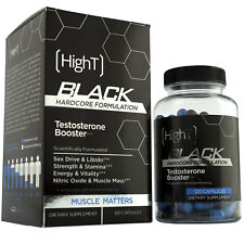 High T Black- Testosterone Booster Supplement- 120 Capsules
