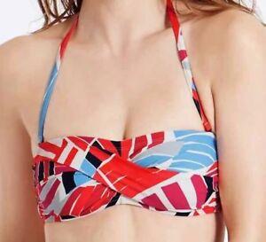 Damenmode Bademode EntrüCkung New M&s Size 8 10 Bandeau Bikini Top Padded Moulded Non Wired Bikini Top FüR Schnellen Versand