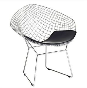Awesome Image Is Loading Bertoia Wire Diamond Chair Replica Black Seat