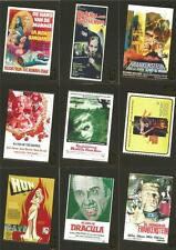 Hammer Horror Series 1 Full 9 Card Gold Foil Chase Set from Strictly Ink