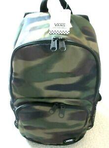 Vans Alumni Pack 3 Camouflage Backpack Travel Bag Unisex Green Black Free Ship